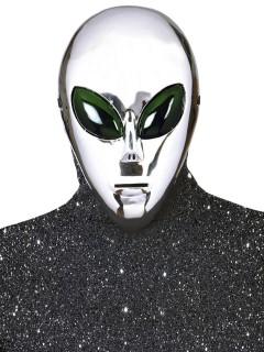 Alien-Maske Ausserirdischer Halloween silber