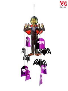 Vampir-Mobile Halloween-Deko schwarz-lila 50cm