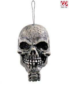 Totenschädel-Hängedeko Halloween-Deko grau 15cm
