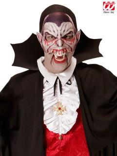 Blutige Vampir-Halbmaske rot-hautfarben-weiss