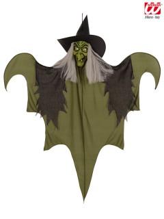 Hexen-Hängedeko Halloween-Deko grün-schwarz 60cm