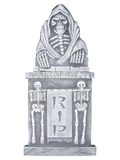 Grabstein-Deko Halloween grau 33x91cm