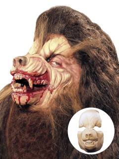 Werwolf Halloween Latex-Maske hautfarben