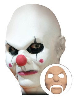 Horrorclown Latex-Applikation Halloween-Makeup beige
