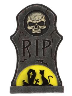 R.I.P-Grabstein Halloween-Deko grau-gelb 66x40cm