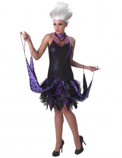 Ursula™-Damenkostüm Disney Arielle schwarz-lila