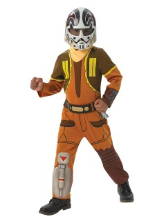 Ezra-Kinderkostüm Star Wars Rebels™-Lizenkostüm orange-braun