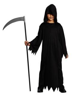 Kleiner Sensenmann Halloween Kinderkostüm schwarz