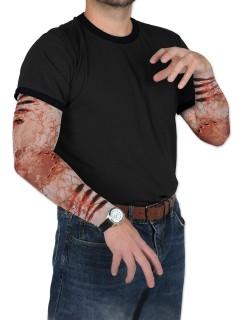 Tattoo-Ärmel Zombie-Biss Halloween bunt