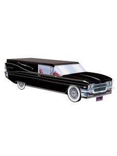 Leichenwagen Halloween-Deko schwarz 36cm