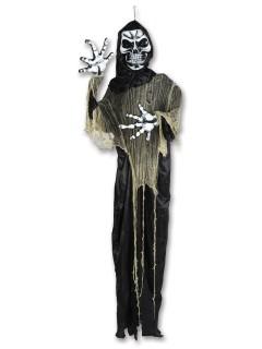 Gevatter Tod Skelett Halloween Mega-Deko bunt 2,2m