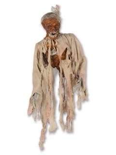 Verrottete Leiche Halloween-Hängedeko braun-beige 96cm