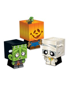 Süsse Trick or Treat Geschenkbox Halloween Party-Deko Set 3 Stück bunt