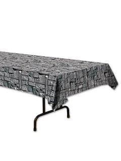 Tischdecke in Steinwand-Optik grau 137x274cm