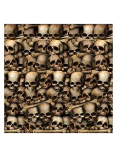 Totenschädel-Wanddeko Halloween-Deko beige-braun 1,2 x 9,1 m