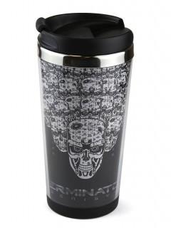 Thermobecher Terminator Genesis Lizenzprodukt schwarz-weiss 350 ml