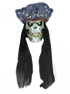 Abgehackter Piraten Zombie-Kopf Hänge-Deko bunt 22x22x21cm
