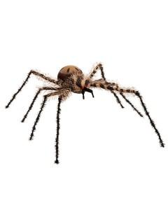 Haarige Riesen-Spinne Halloween Party-Deko schwarz-braun 90cm