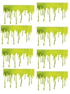 Zombie-Blutspuren Halloween Fensterdeko-Set 8-teilig grün 45x27cm