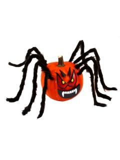 Fiese Kürbis-Spinne Halloween Deko-Set 13-teilig rot-schwarz-weiss