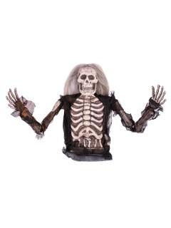 Skelett-Oberkörper Halloween-Deko schwarz-weiss 36cm