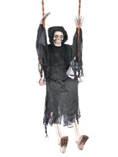 Skelett-Schaukelfigur Halloween-Hängedeko grau-weiss 163 cm