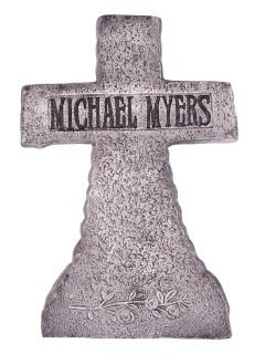 Michael Myers Grabstein Halloween Party-Deko grau-weiss 38x53cm