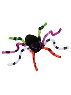 Biegbare Riesen-Spinne Halloween Party-Deko schwarz-bunt 51cm