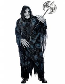 Gruseliger Sensenmann Tod Halloween Kostüm schwarz-grau
