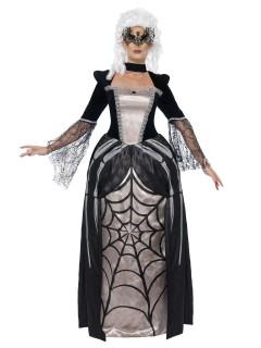 Edle Gothic Baronesse Damenkostüm schwarz-weiss