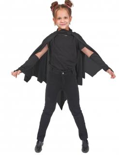 Vampir Fledermaus Umhang für Kinder schwarz