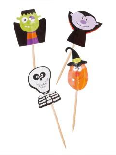 Cupcake Deko-Sticks Halloween bunt 7cm 20 Stück