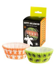 Süsse Halloween Cupcake Förmchen 100 Stück bunt 3x8cm