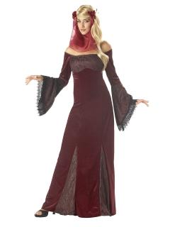 Renaissance-Damenkostüm dunkelrot
