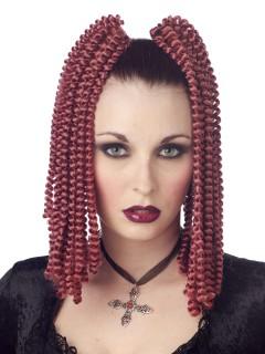 Gothic Spiral-Locken Haarschmuck rotbraun 2 Stück