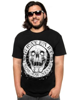 GraveArt Now Or Never T-Shirt schwarz-weiss