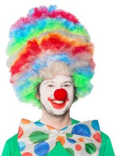 Clowns-Perücke Afroperücke bunt