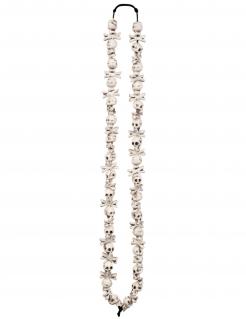 Totenkopf Halloween-Halskette weiss
