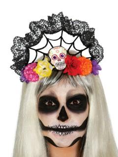 Tag der Toten Sugar Skull Diadem bunt