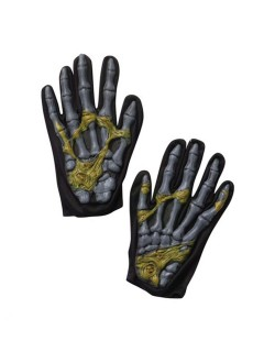 Zombie Halloween-Handschuhe schwarz-dunkelgrau