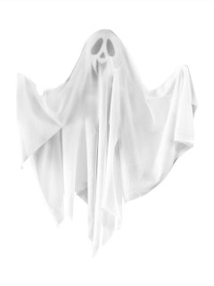 Freundlicher Geist Halloween-Hängedeko weiss 50cm