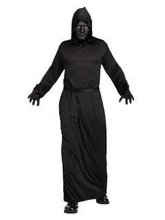 Gesichtsloser Ghul Halloweenkostüm schwarz