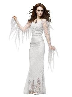 Reizendes Geisterkostüm für Damen Halloween weiss