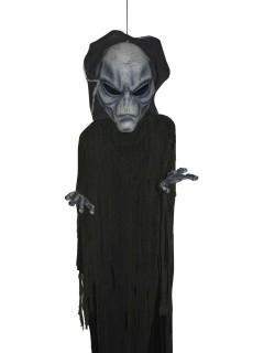 Alien Ausserirdischer Halloween-Hängedeko schwarz-grau 360cm
