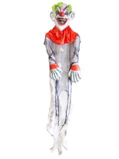 Horror-Clown mit Leuchtaugen Mega-Halloween-Hängedeko weiss-bunt 365cm