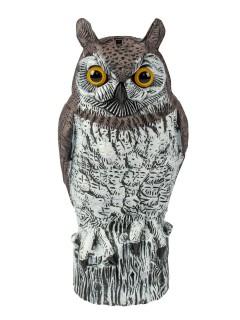 Schaurige Eule Horrorvogel Halloween-Deko schwarz-grau 16x18x42cm