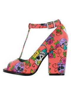 Iron Fist Sweet Tooth Peeptoe High Heels rosa-bunt
