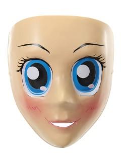 Manga-Maske Kostüm-Accessoire haut-blau
