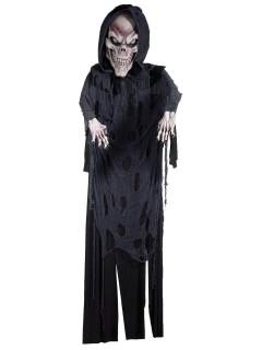 Sensenmann Hängedeko für Halloween grau-schwarz 365cm