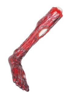Verbranntes Bein Halloween Party-Deko rot-beige 61x15cm